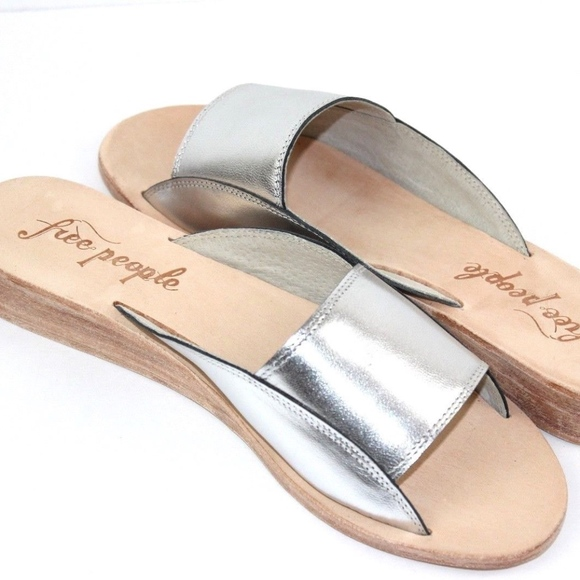 Free People Shoes - Free People Daybird Mini Wedge Sandal Silver Slide